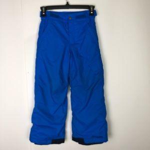 Columbia Boys Snow Pants Suit Ski Blue 6 7 Lined